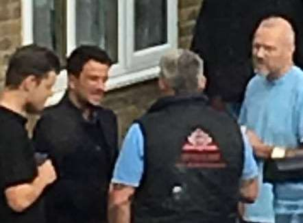 Peter Andre has been spotted in Sittingbourne