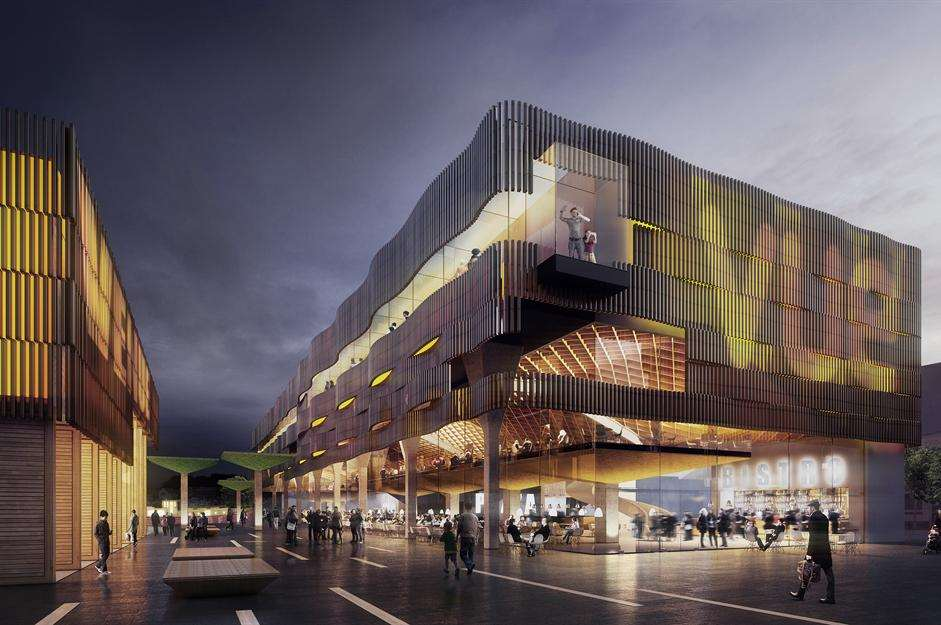 An artist's impression of the proposed multi-screen cinema and entertainment venue in Sittingbourne