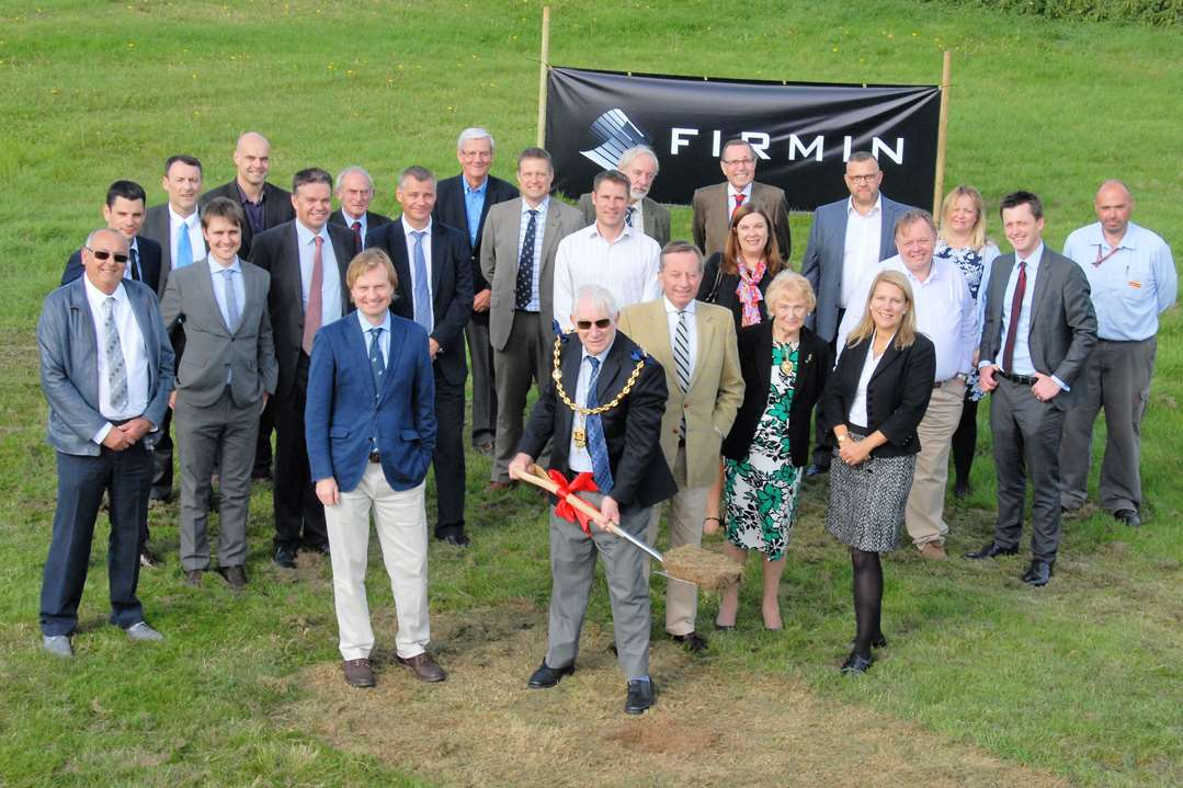 Mayor of Maidstone, Cllr Malcolm Greer digs the first ground