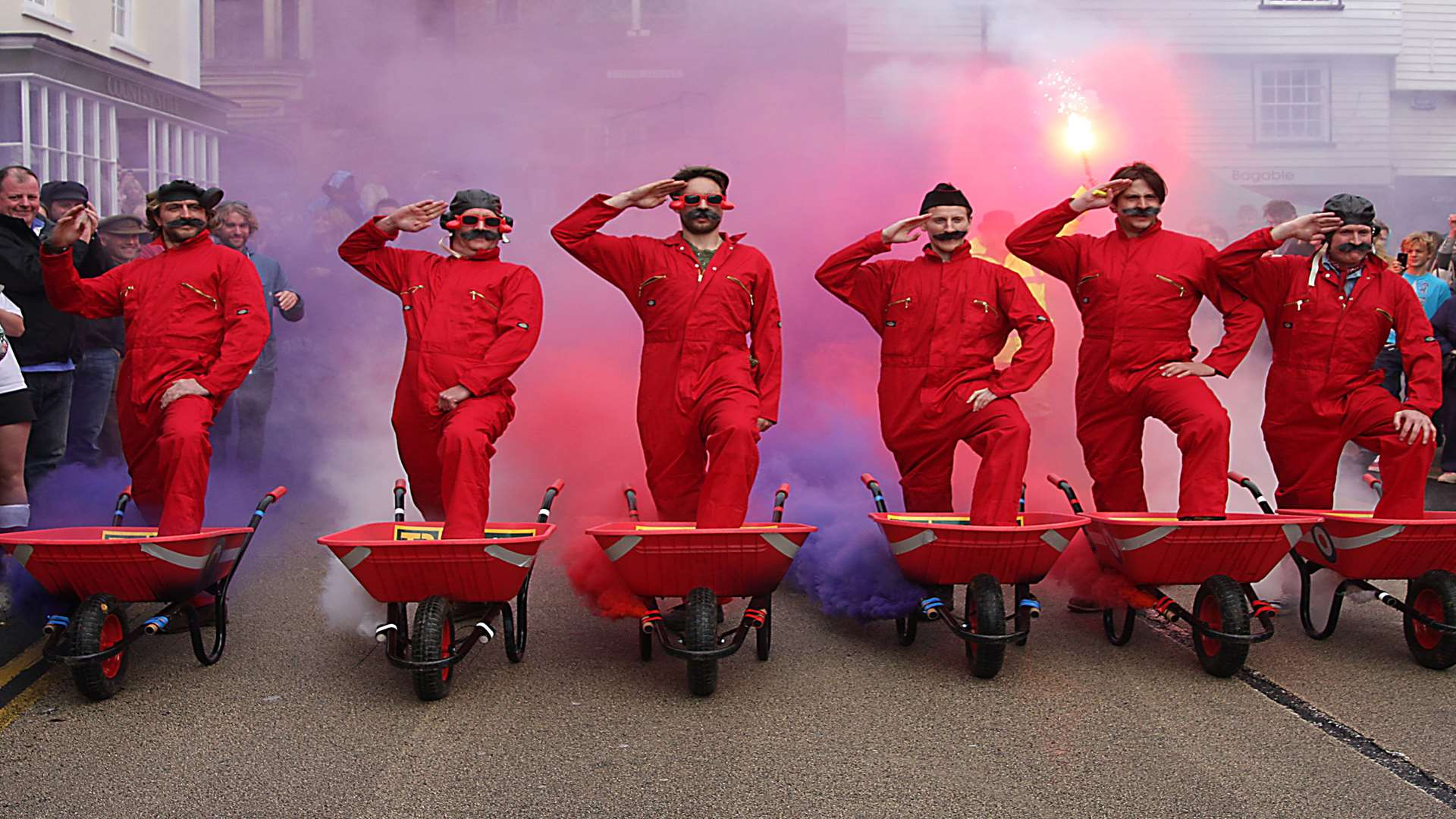 The Red Barrows performing their famous display at the Cranbrook Apple Fayre Picture: John Clement