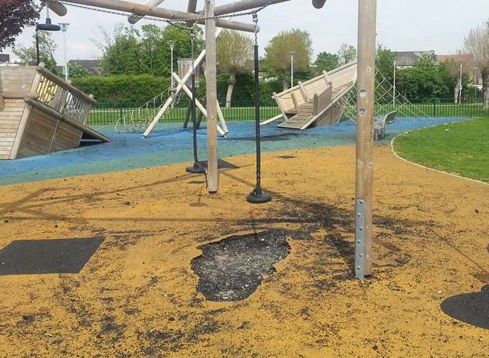 Witnesses said the vandals were children aged 12 to 15