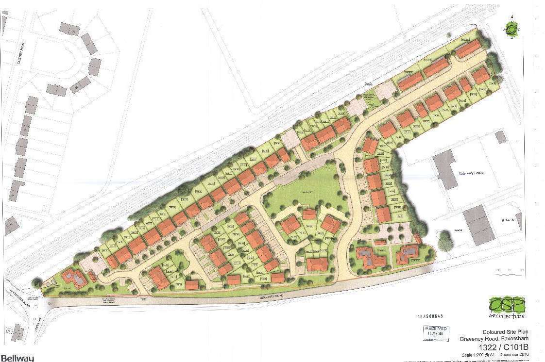 The site off Graveney Road is set for 105 homes