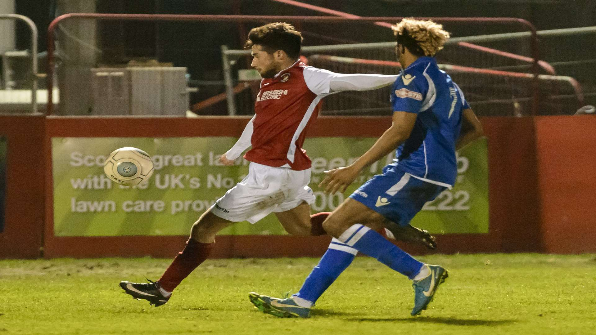 Sean Shields takes aim for Ebbsfleet's equaliser Picture: Andy Payton