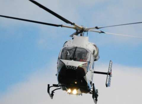 The Kent, Surrey and Sussex Air Ambulance was called out.