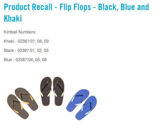 Primark have issued a recall on these flip flops