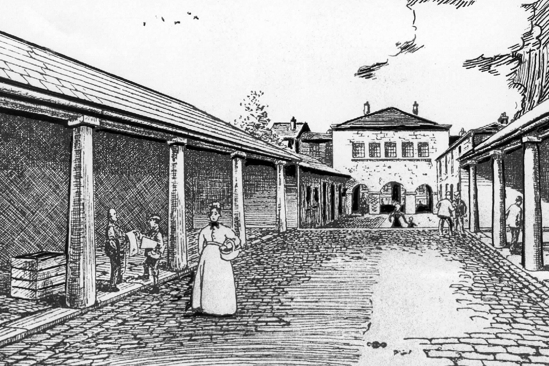 The first Gravesend market build in 1898.