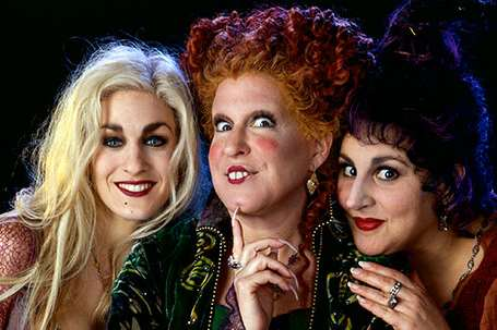 Hocus Pocus, starring Sarah Jessica Parker, Bette Midler and Kathy Najimy, will be an open air cinema treat this October half term at Betteshanger