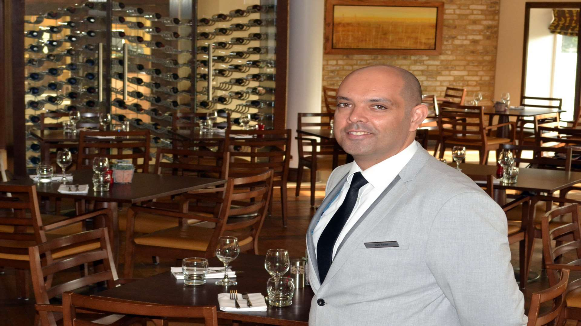 Carlo Martins, new bar manager at the Tudor Park Marriott Hotel in Maidstone
