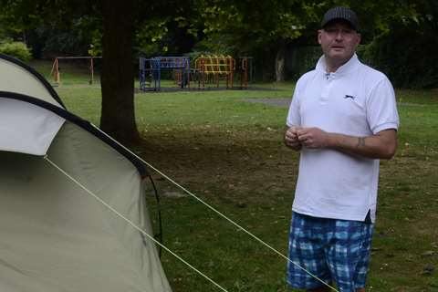 Wayne Myers has been living in a tent in a childrenu0027s play park for two years.  sc 1 st  KentOnline & Wayne Myers jailed for refusing to stop living in tent in Faversham