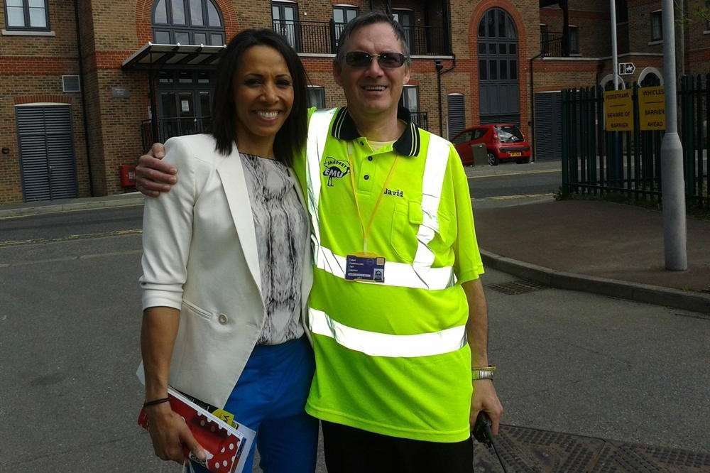 David O'Neill with Dame Kelly Holmes