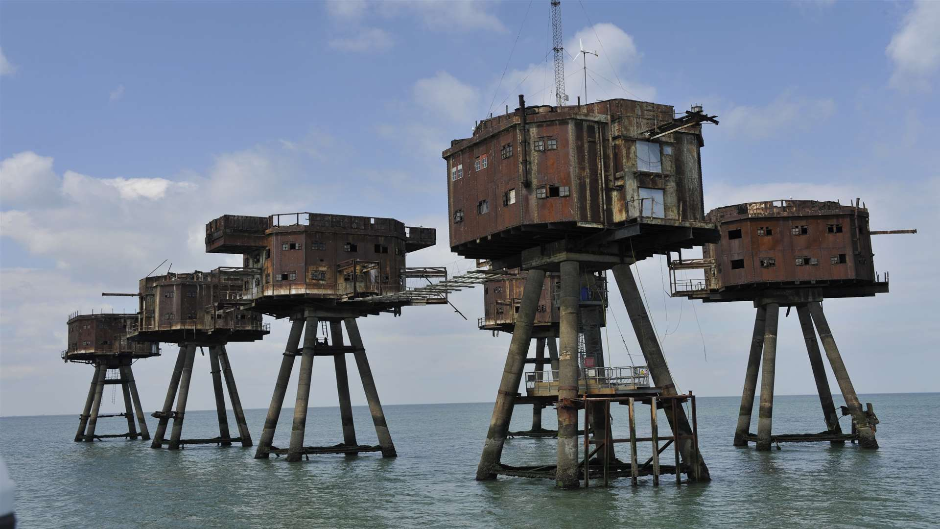 Red Sands sea forts off the coast of Kent