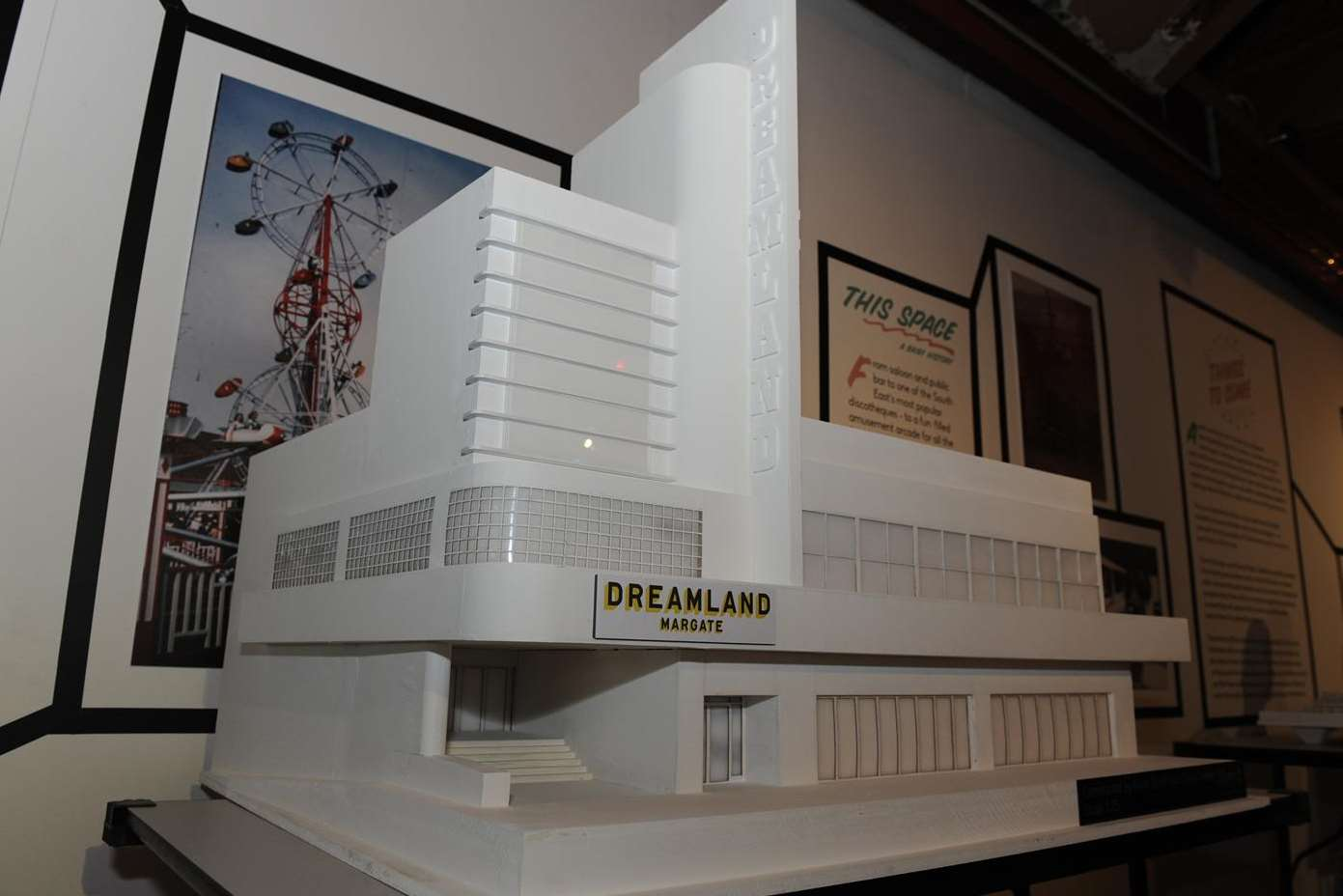 A scale model of the re-built Dreamland site