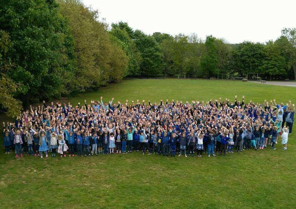 Bridge and Patrixbourne School wearing blue for Ethan last year