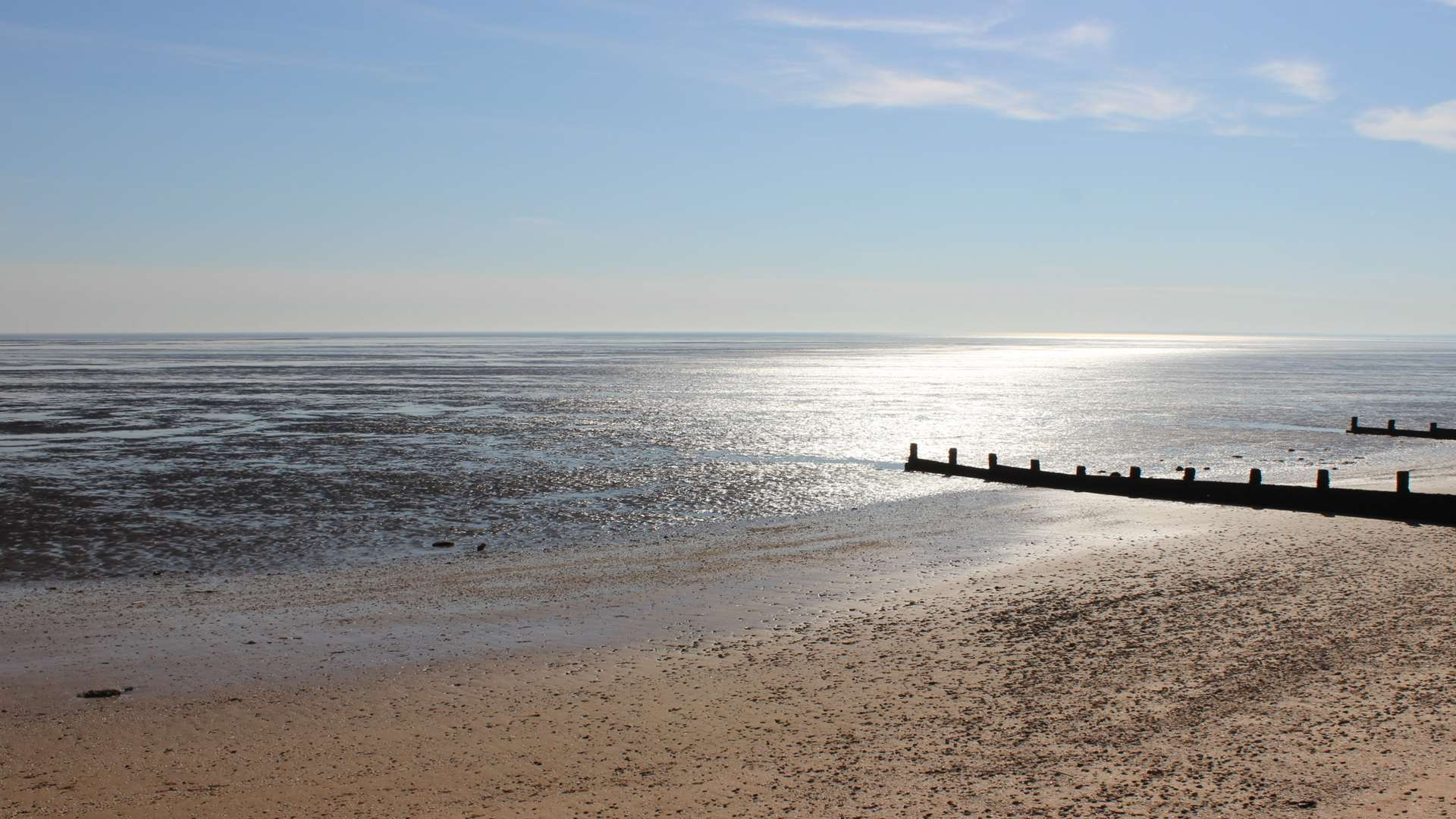 Leysdown beach on the Isle of Sheppey