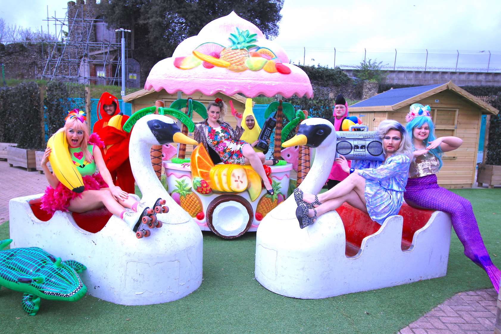 There is 80s, beach and tropical-themed fun at Dreamland