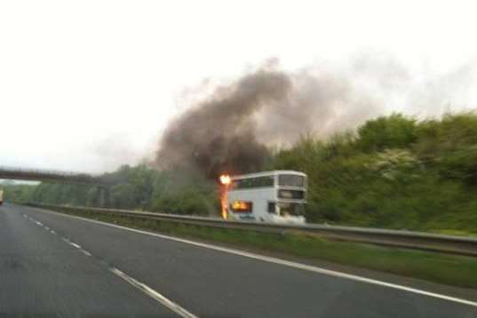 Buzzlines bus on fire