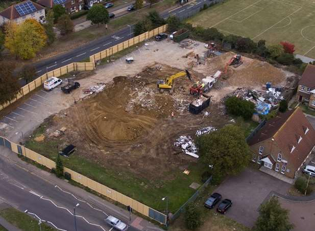 An aerial shot of the site where the Battle of Britain stood. Picture: Charly Croker