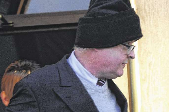 Nurse Dale Bolinger leaves Canterbury Crown Court after an earlier hearing