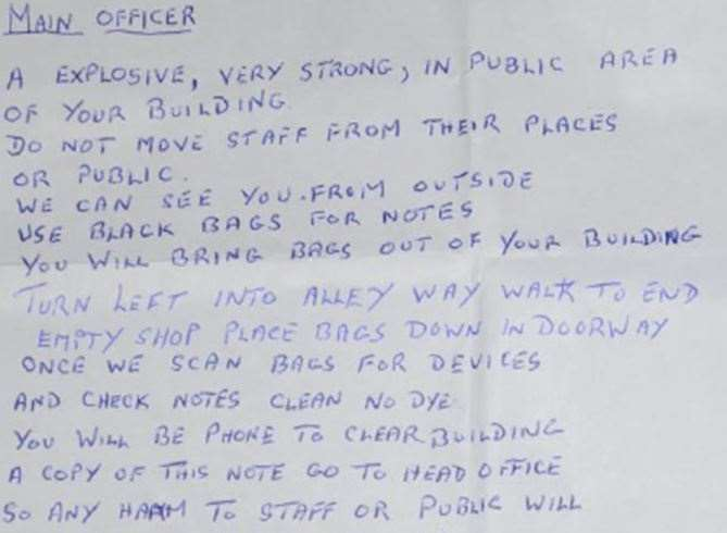 The letter written by Reginald Esqulant. Picture: Kent Police