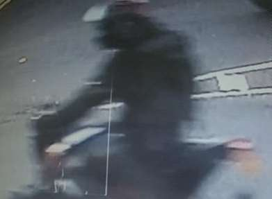 CCTV images of the biker. Picture: Kent Police