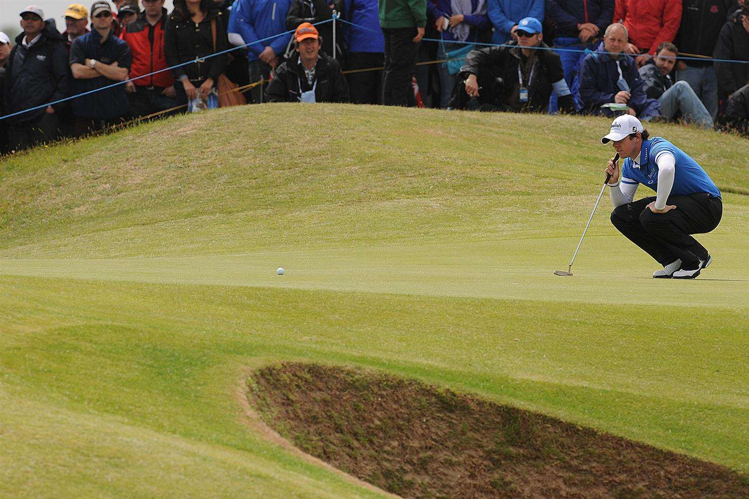 Current Open champion Rory McIlroy on the 10th green at Royal St George's in 2011, a customer of Farmura Environmental