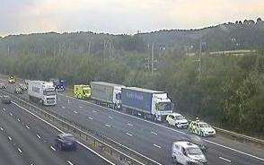 The scene of the crash. Pictures: Highways England