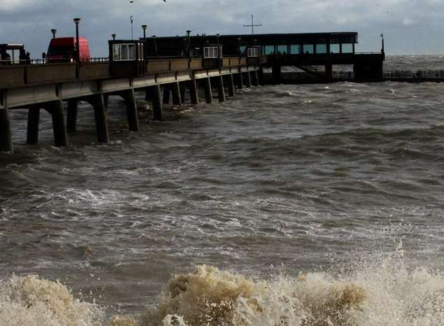A man was rescued from the water by Deal Pier