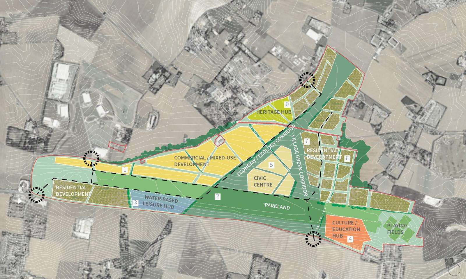 One of the concepts for the former Manston airport site