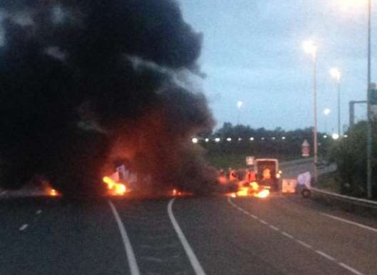 A fire caused delays at Calais. Picture: @chriscary180605
