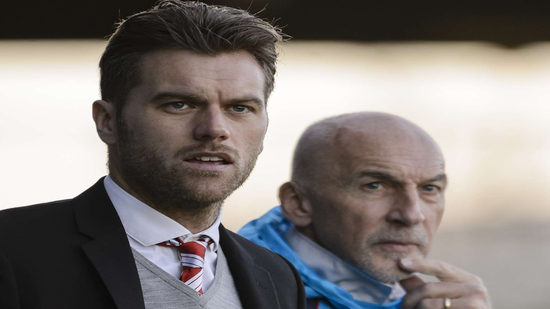 Fleet boss Daryl McMahon with assistant Steve Gritt. Picture: Andy Payton