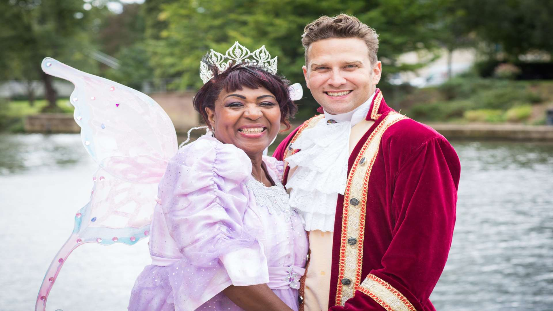 Stars of the Hazlitt's panto this year, Rustie Lee and Stefan Booth