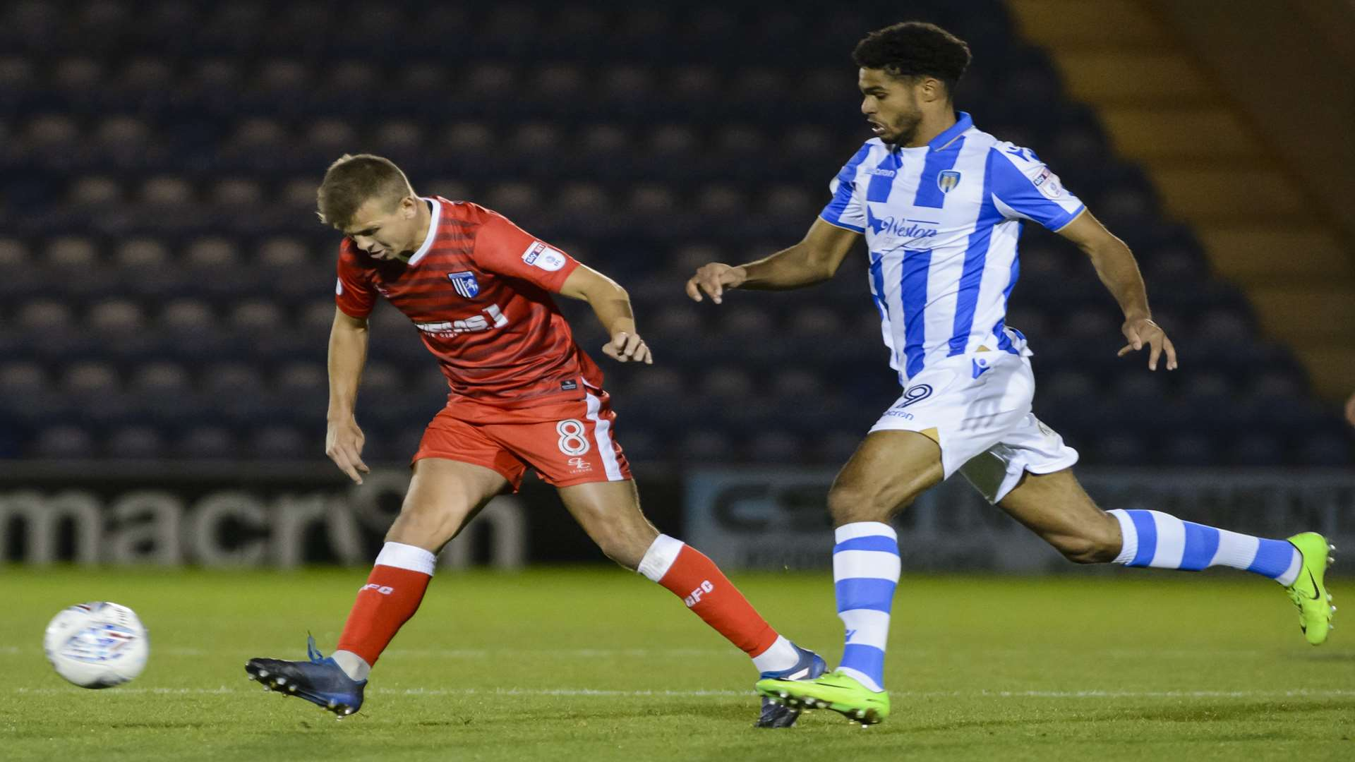 Jake Hessenthaler busy in midfield Picture: Andy Payton