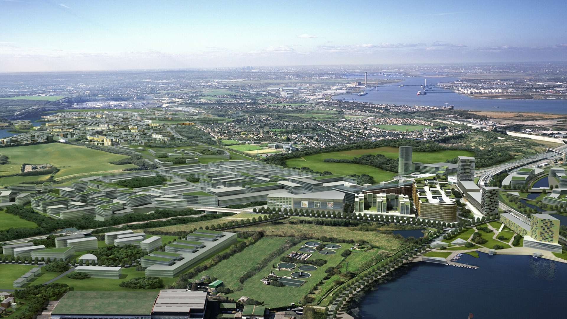 Developer Land Securities' former vision for a new town at Ebbsfleet