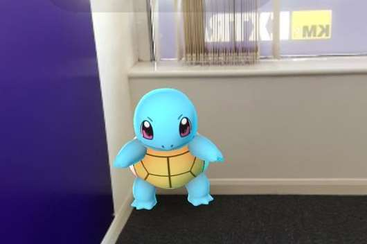 Squirtle was cornered in the KM's Gravesend office