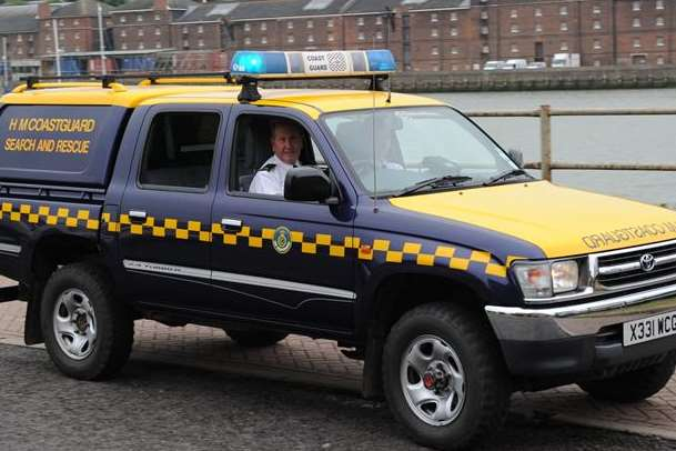 Coastguard crews were called to Royal Oak Point. File picture