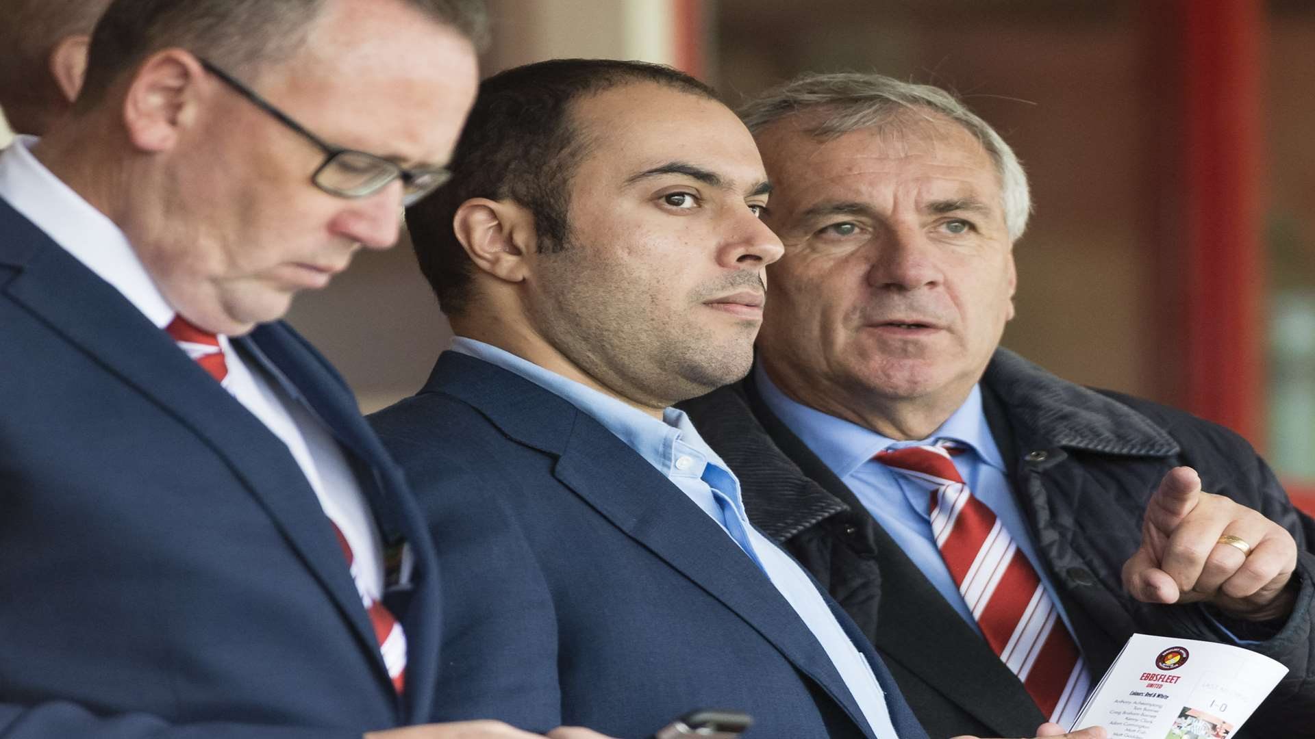Peter Varney with Ebbsfleet owner Dr Abdulla Al-Humaidi Picture: Andy Payton