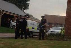 Police at the Wainscott burglary. Picture: @kayharrison92