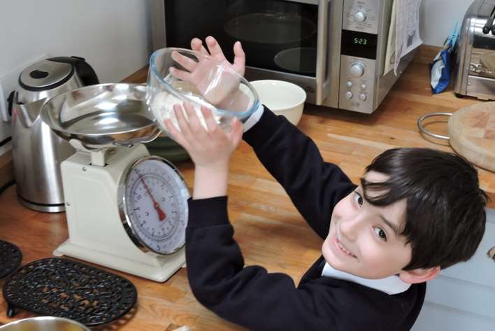 Harry Gibbs, 7, from Joy Lane Primary School in Whitstable is entering the KM Kent Cooks competition.
