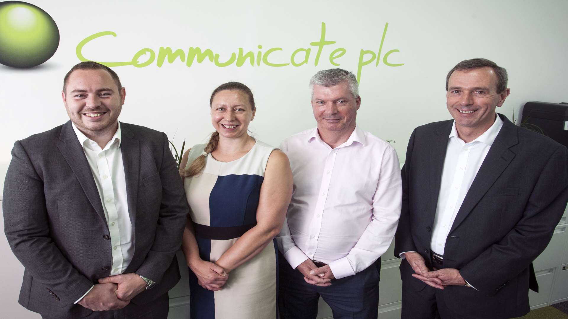 From left, Oliver Stell, Emily Bentley, Tony Snaith and John Toal of Communicate Technology