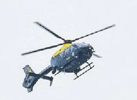 Police helicopter. Stock image