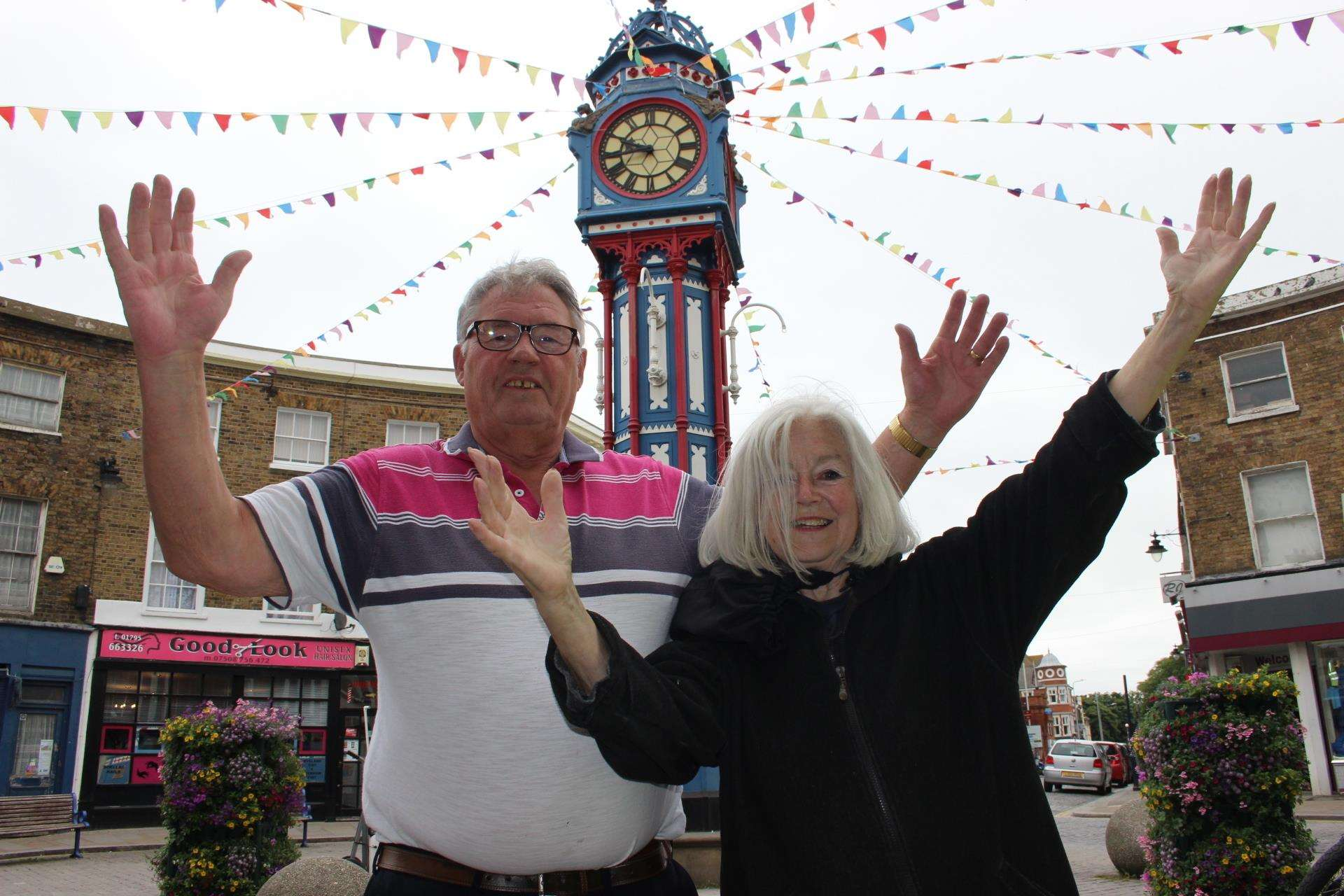 Jubilant: Campaigners Brian Spoor and Lana Henderson celebrate the go-ahead for a Sheerness town council