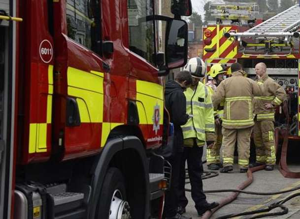 Firefighters were called to a multi-car fire in the early hours of this morning.