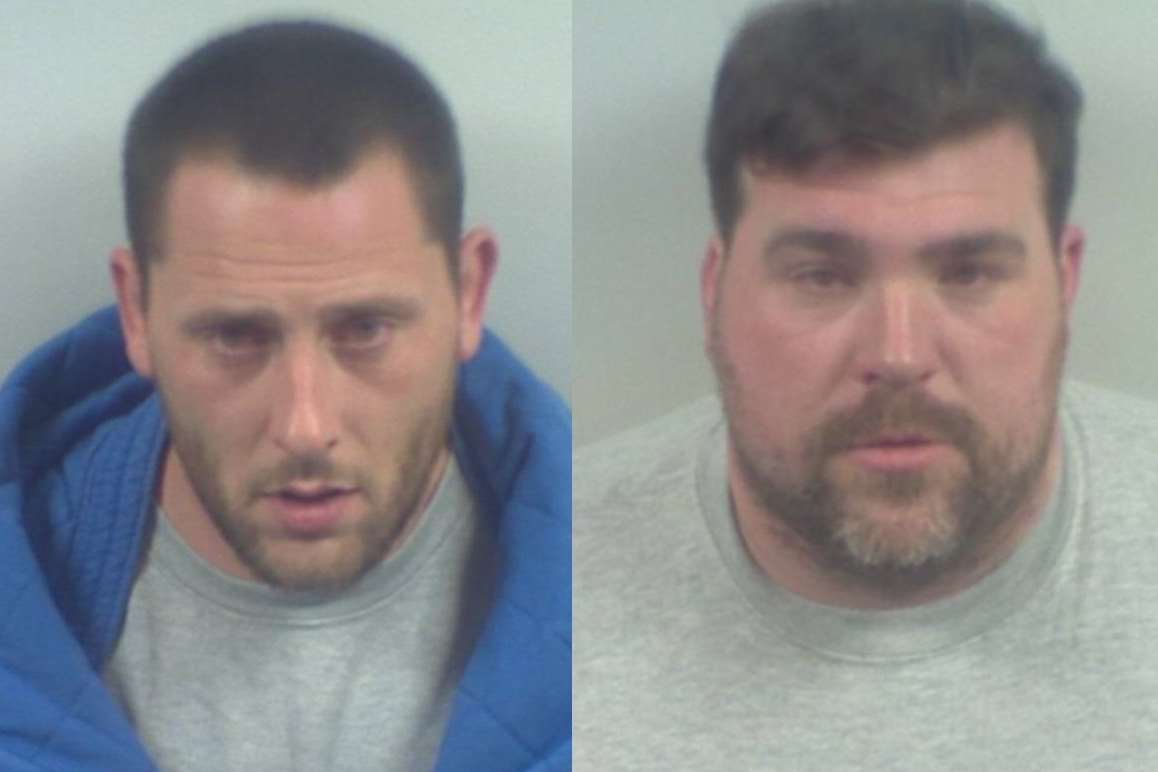Stribling (left) and Stilwell have been jailed for more than four years each
