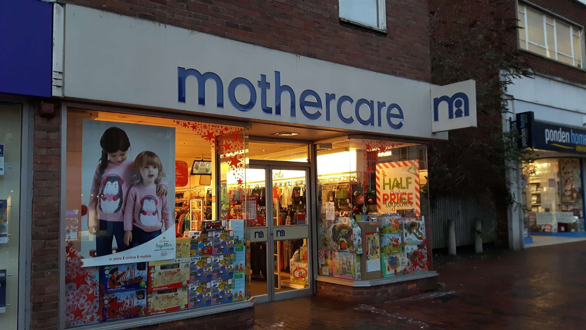 Mothercare in Sittingbourne closed last year