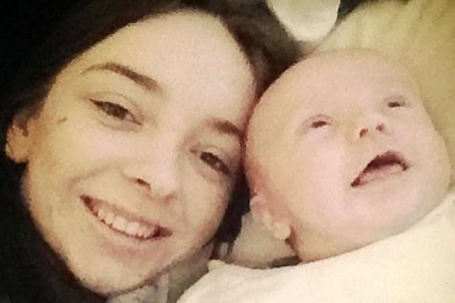 Sophie Aldridge did not know she was pregnant with Thomas. Picture: SWNS.com