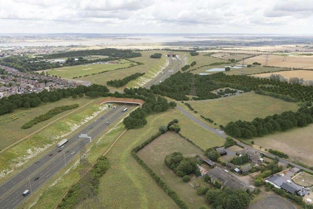 Highways England says thousands of jobs will be created by the proposed Lower Thames Crossing project. Picture: Highways England