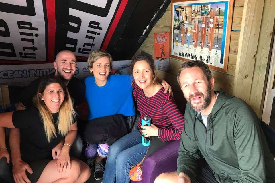 Kent Surf School owners with some of the stars