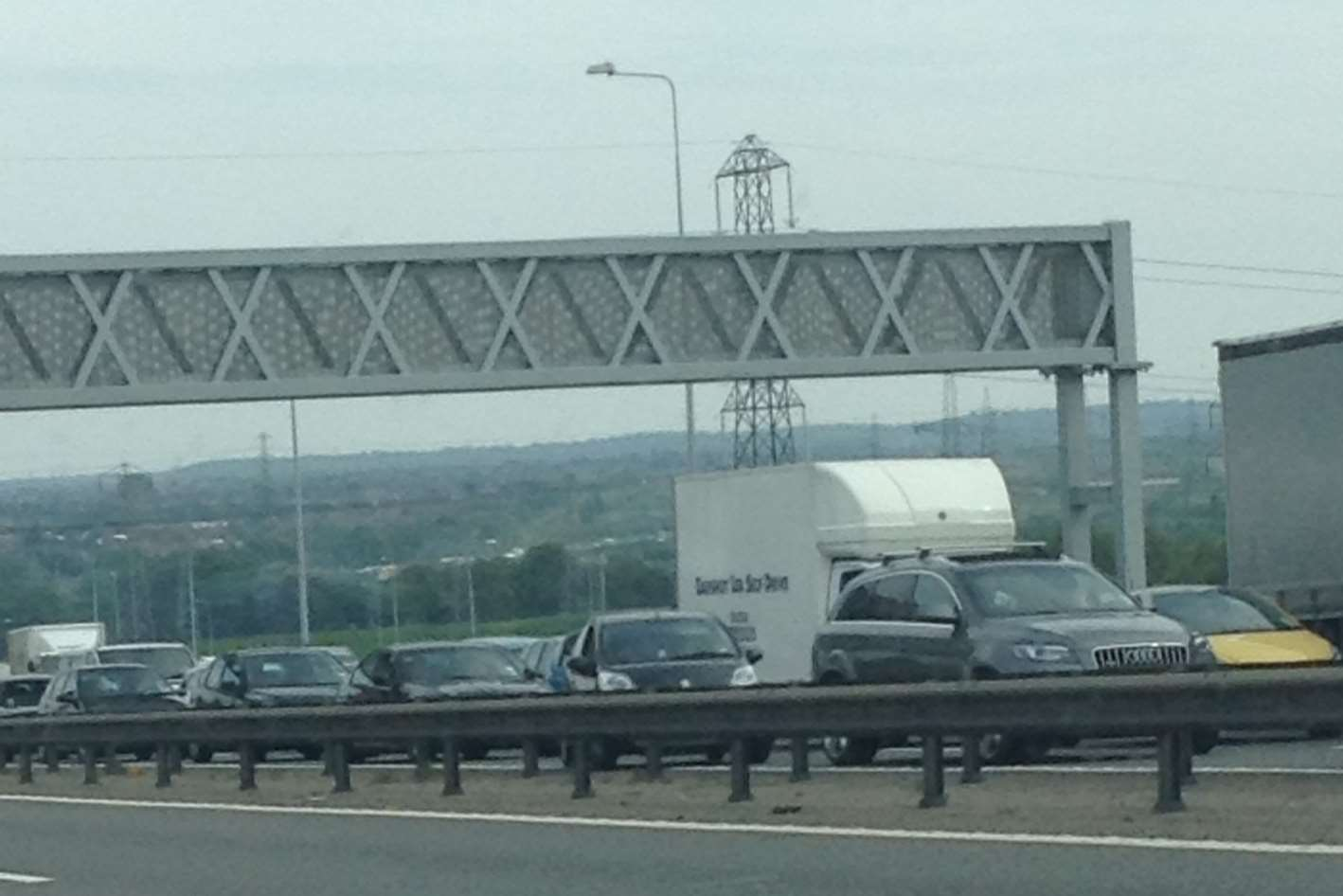 Hundreds of motorists were trapped on the A2 after the bike crash. Picture: Julia Roberts