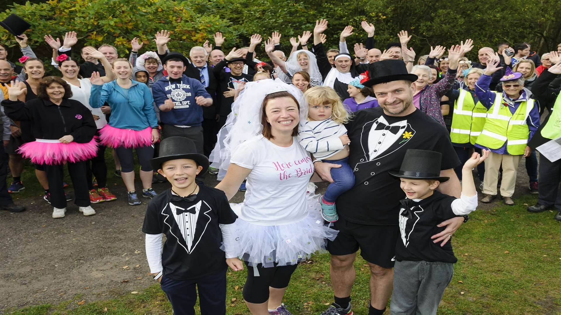 Matt and Becky with children from left, Jack Roberston, 8, Emily Baxter, 2, and Oliver Baxter, 7. Picture: Andy Payton