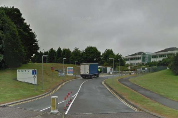 Fire crews were called to the Coty site at Bradfield Road, Ashford. Picture from Google Street View